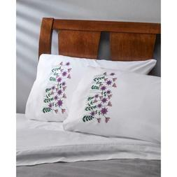 BUCILLA Premium Pillow Cases 2pk for Stamped Embroidery DANC