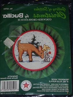 Reindeer Hoop Counted Cross Stitch Kit by Bucilla 32764
