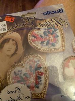 Bucilla Ribbon Embroidery Kit #40999- Floral Magic Set Of Tw