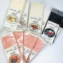 Bucilla Silk Ribbon Embroidery Fabric in Moire, Crepe Silk,