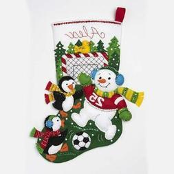 Bucilla® Snowman Soccer Fan Stocking Kit