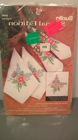 Bucilla Special Edition Floral Elegance Napkins NIP  #64494