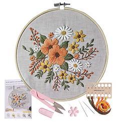 Stamped Embroidery Kit - for DIY Beginner Starter Stitch Kit