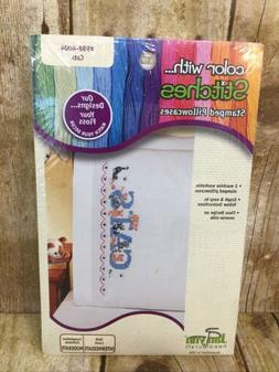 """Janlynn Stamped Pillowcases CATS #for Embroidery 20"""" x 30"""" 1"""