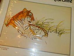 BUCILLA Stitchery CREWEL Embroidery KIT 48903  TIGER'S HAVEN