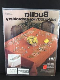 Bucilla Tablecloth For Embroidery Floral Cascade NAPKINS 487
