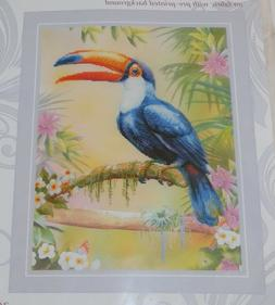 Riolis TOUCAN 0077 PT Cross Stitch Kit STARTED Printed Canva
