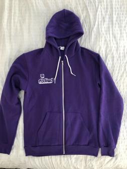 TWITCH CON TWITCH Purple Sweater Embroidery Stitch Staff Onl