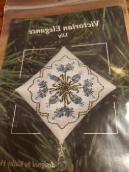 Victorian Elegance Lily Cross Stitch Ornament Kit Kathy Holi