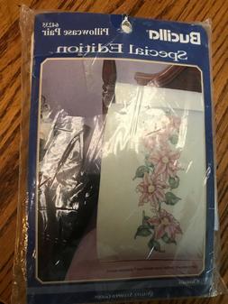 Vtg Bucilla Needlecraft Kit Stamped For Cross Stitch Pillow