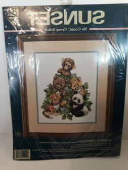 """Vtg Sunset #13939  """"Cuddly Critters"""" Zoo Animals No Coun"""