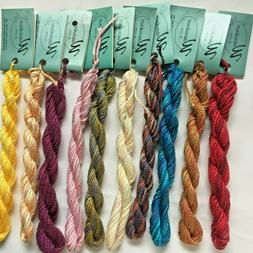 Watercolours by Caron LOT OF 10 SKEINS Asst Colors 3 Ply Cot