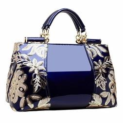 Women's Bags Luxury Totes Handbag Leather Bag Lady's Embroid