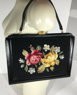 Women's Embroidery Floral Professional Handbag Clutch Satche